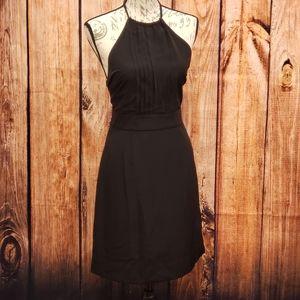 Banana Republic Tie Halter Top Black Dress